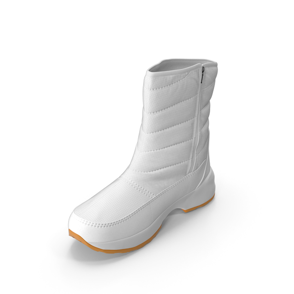 Mens Winter Boots White PNG & PSD Images