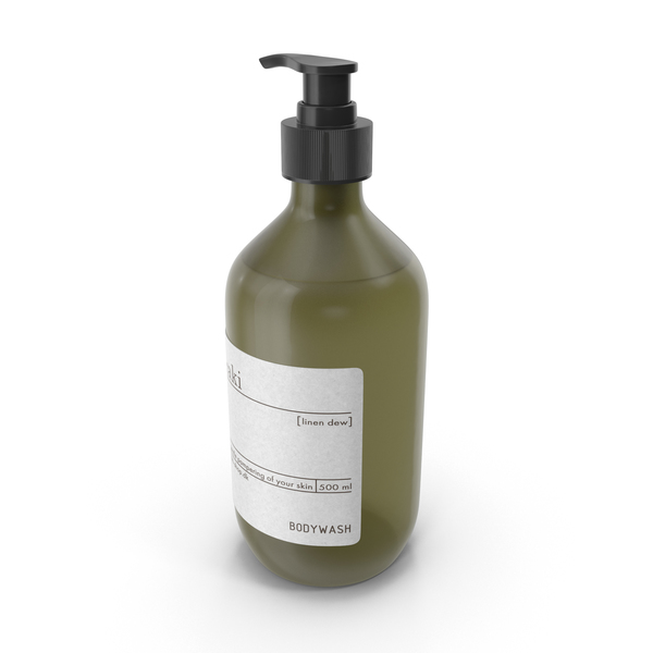 Meraki Body Wash Green Bottle PNG & PSD Images