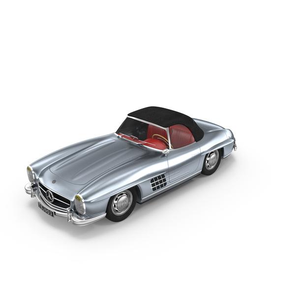 Antique Car: Mercedes 300SL PNG & PSD Images