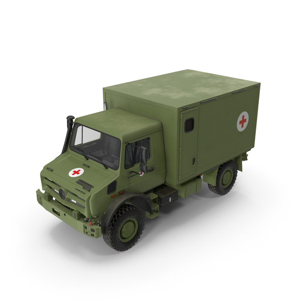 Mercedes Unimog 4023 Ambulance Vehicle PNG & PSD Images