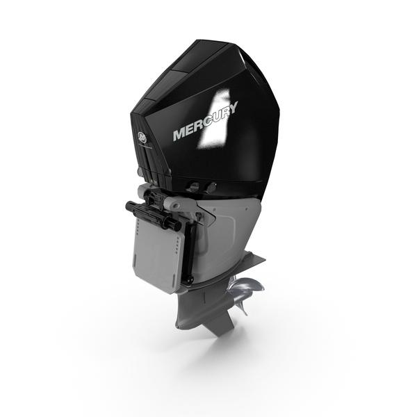Mercury 300C Verado Outboard Motor PNG & PSD Images
