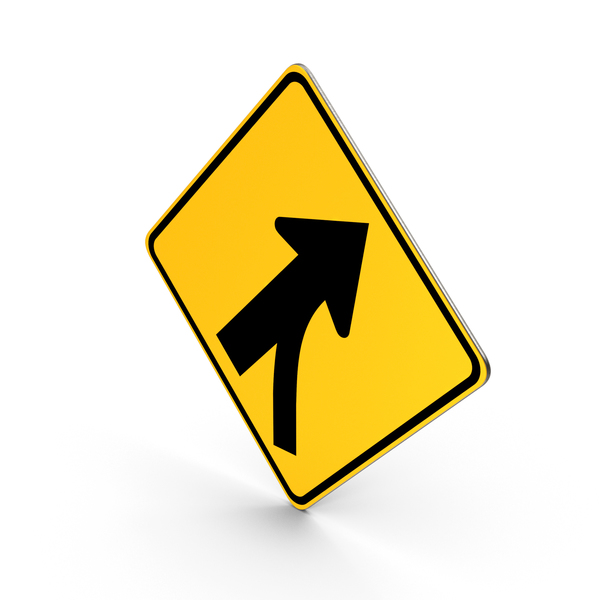Merging Traffic Road Sign PNG & PSD Images