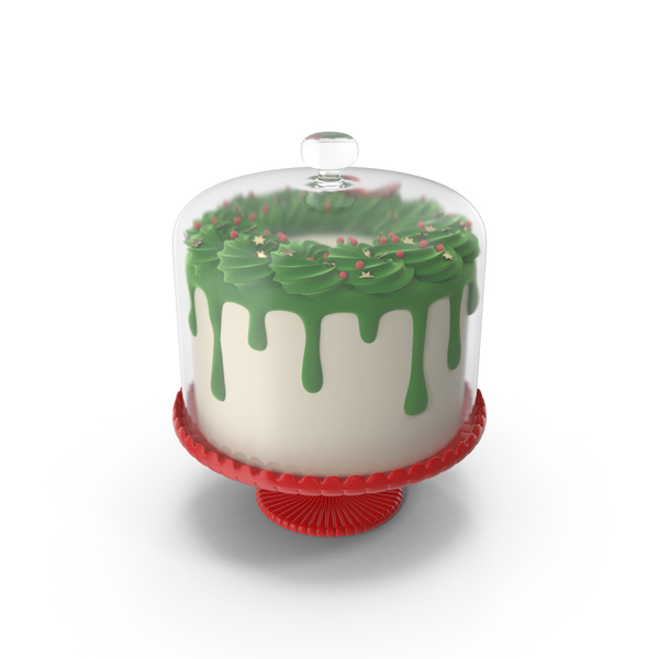 Merry Christmas Cake With Glass Dome PNG & PSD Images