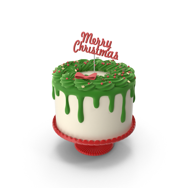 Merry Christmas Cake with Topper Merry Christmas PNG & PSD Images