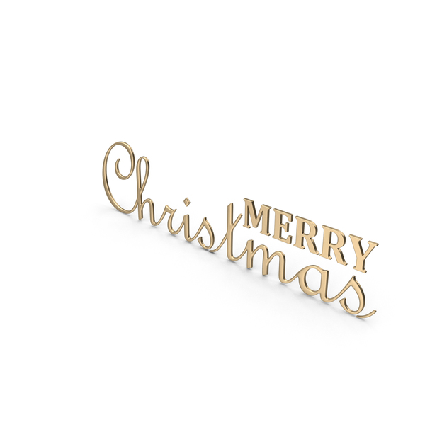 Merry Christmas Symbol Gold PNG & PSD Images