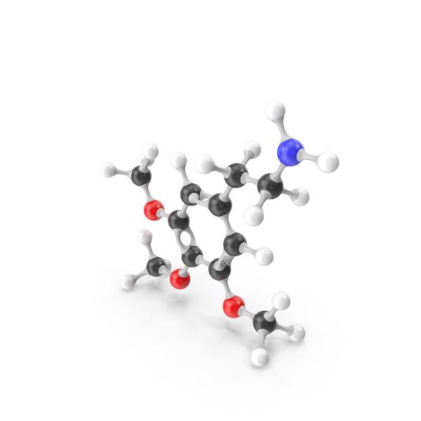 Mescaline Molecular Model PNG & PSD Images