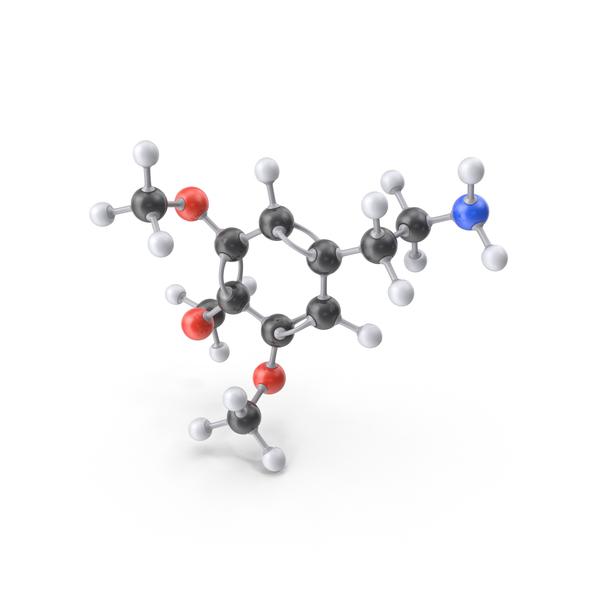 Mescaline Molecule PNG & PSD Images