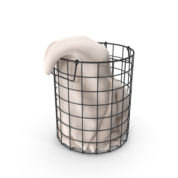 Hamper: Mesh Laundry Basket PNG & PSD Images