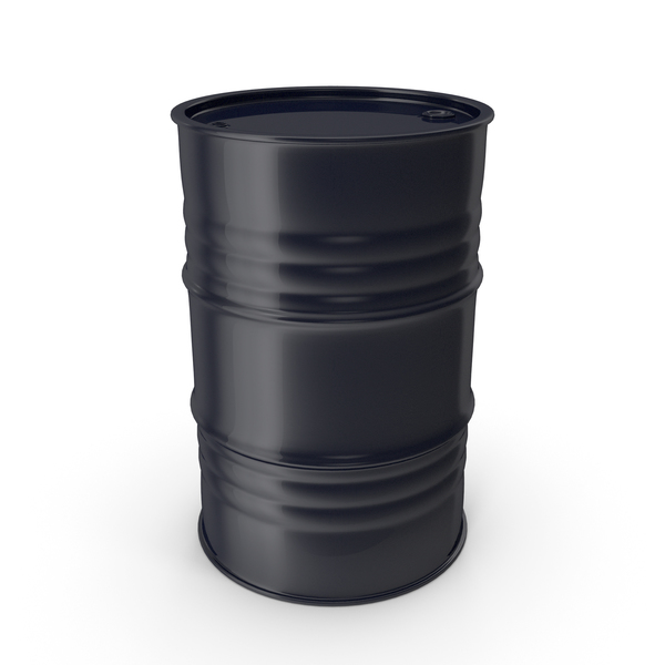 Metal Barrel Clean Black Blue PNG & PSD Images