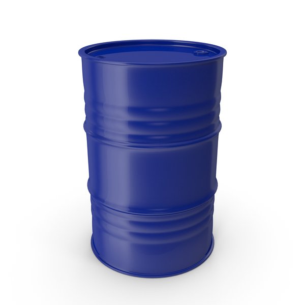 Metal Barrel Clean Blue PNG & PSD Images