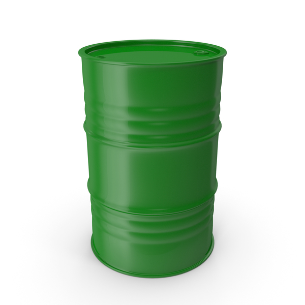 Metal Barrel Clean Green PNG & PSD Images