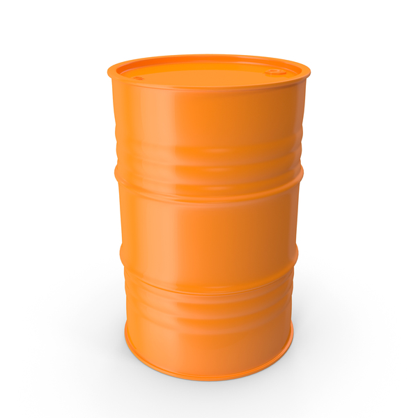 Metal Barrel Clean Orange PNG & PSD Images