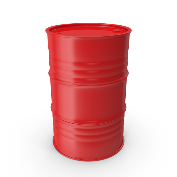 Metal Barrel Clean Red PNG & PSD Images