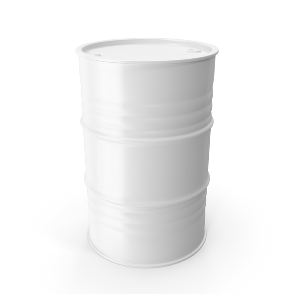 Metal Barrel Clean White PNG & PSD Images