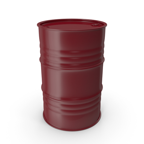 Metal Barrel Clean Wine Red PNG & PSD Images