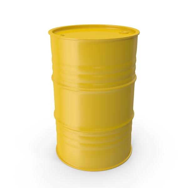 Metal Barrel Clean Yellow PNG & PSD Images