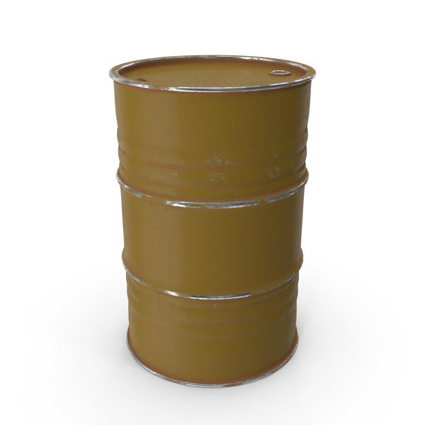 Metal Barrel Painted Brown PNG & PSD Images