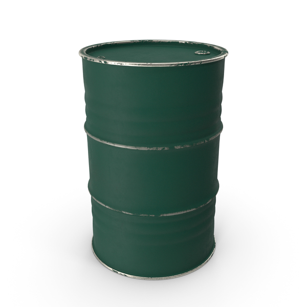 Metal Barrel Painted Green PNG & PSD Images