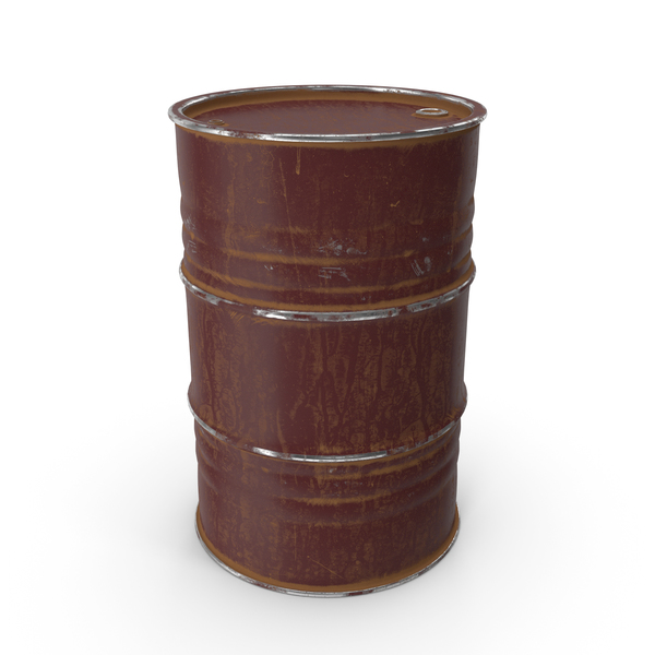 Metal Barrel Painted Oxide Red PNG & PSD Images
