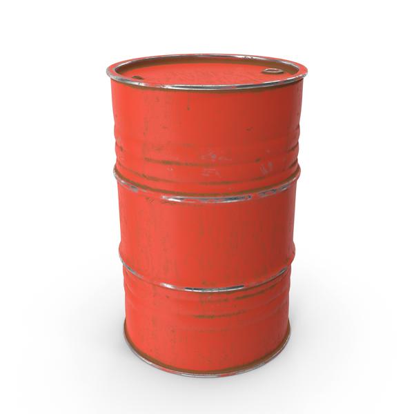 Metal Barrel Red PNG & PSD Images
