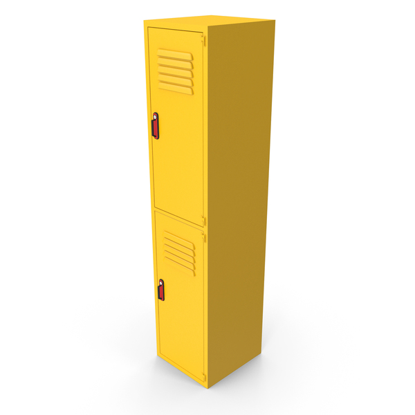 Metal Clothes Cabinet Yellow PNG & PSD Images