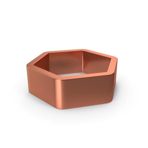 Industrial Equipment: Metal Hexagon Bronze PNG & PSD Images