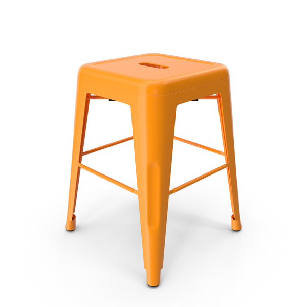 Metal Stool Orange PNG & PSD Images
