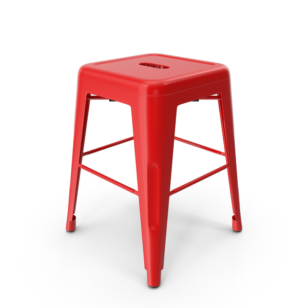 Metal Stool Red PNG & PSD Images