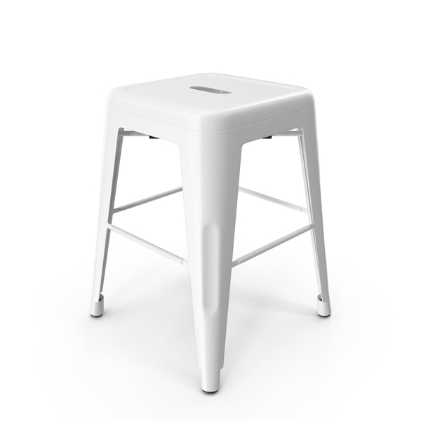 Metal Stool White PNG & PSD Images