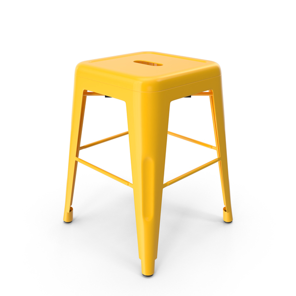 Metal Stool Yellow PNG & PSD Images