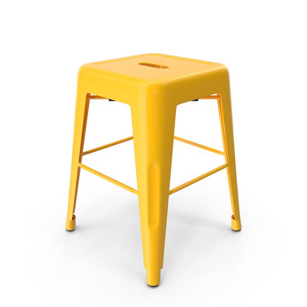 Metal Stool Yellow PNG & PSD Images