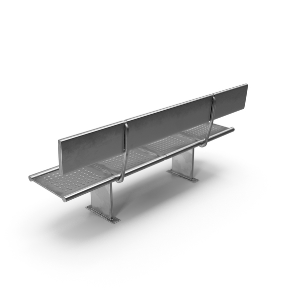 Metal Subway Bench PNG & PSD Images