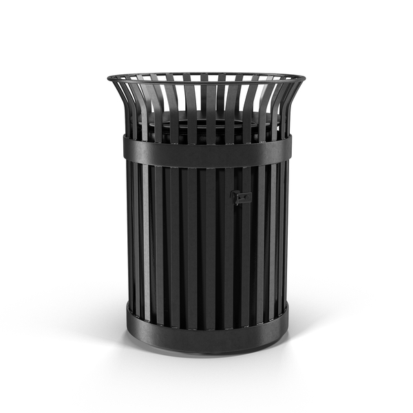 Dustbin: Metal Trash Can Object