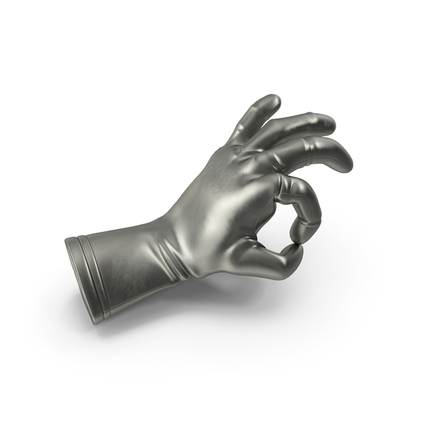 Metalic Glove OK Gesture PNG & PSD Images