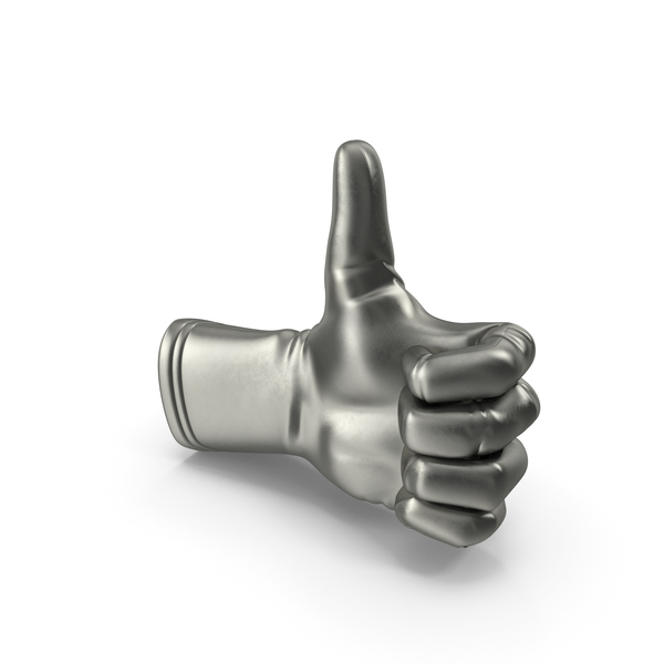 Metalic Glove Thumb Up PNG & PSD Images