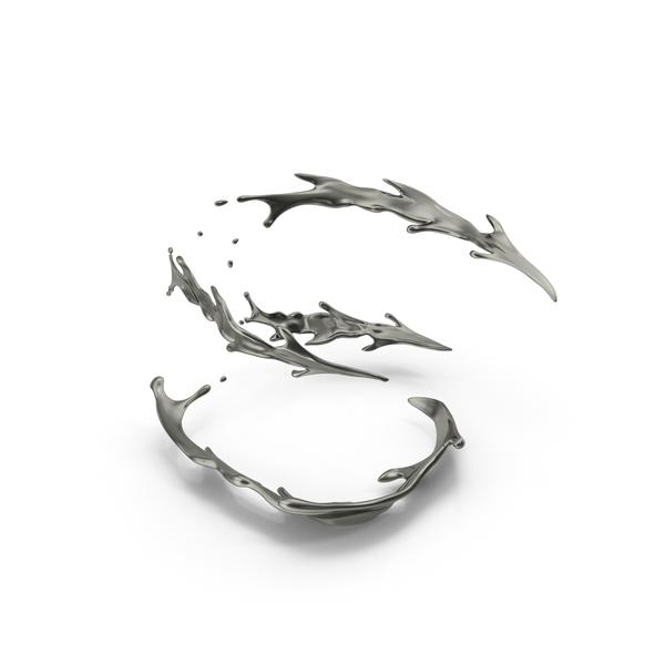Metallic: Metallic Spiral Splash PNG & PSD Images