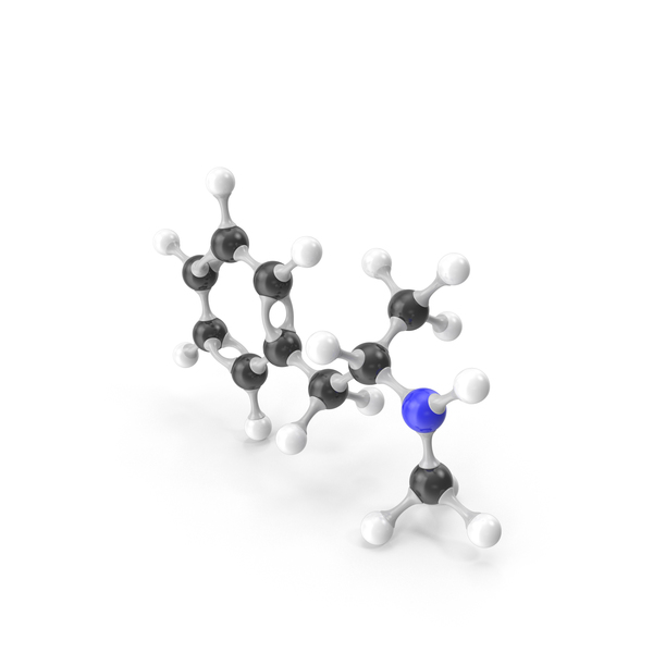 Methamphetamine Molecular Model PNG & PSD Images