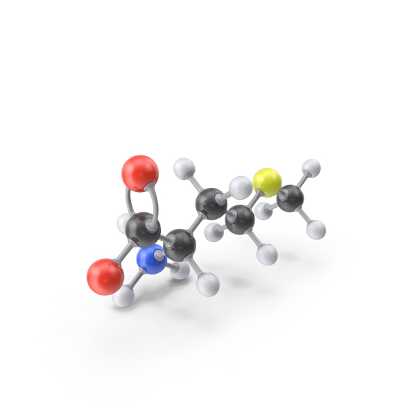 Methionine (Zwitterion) Molecule PNG & PSD Images
