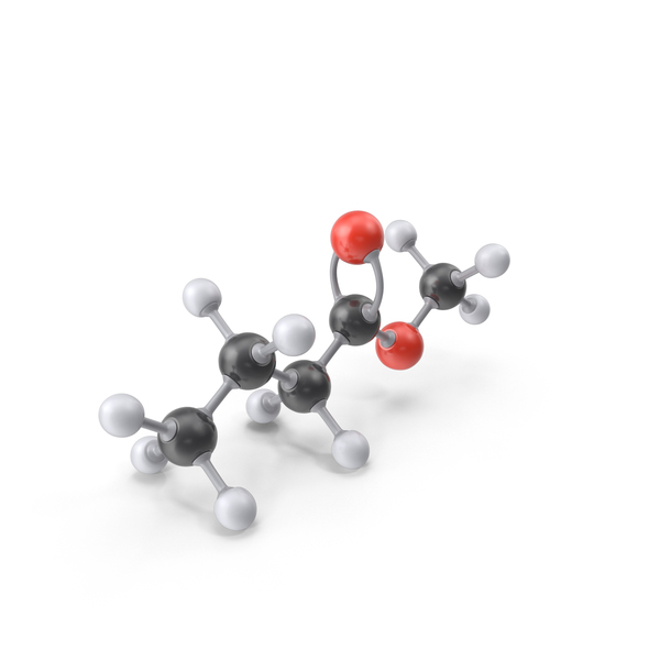 Methyl Butyrate Molecule PNG & PSD Images