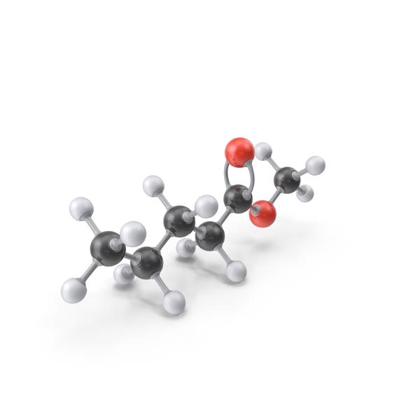 Methyl Pentanoate Molecule PNG & PSD Images