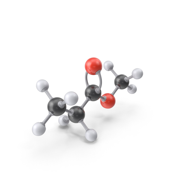 Methyl Propionate Molecule PNG & PSD Images