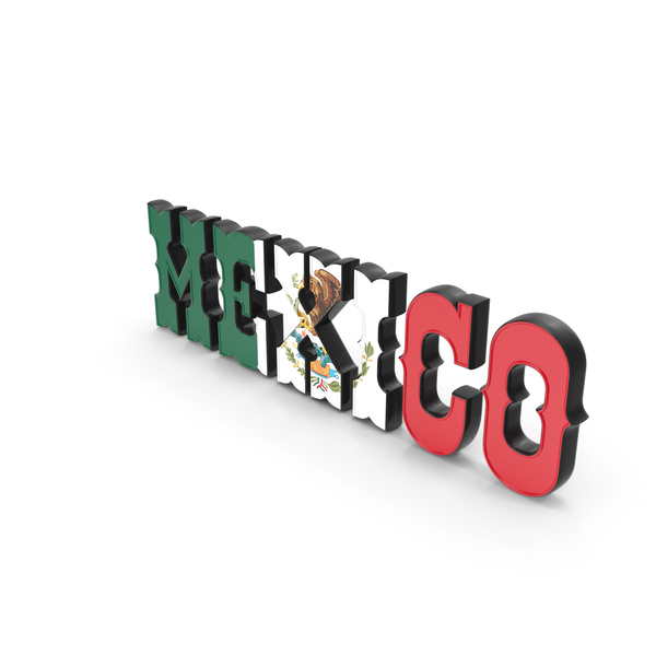 Language: Mexico Text with Flag PNG & PSD Images