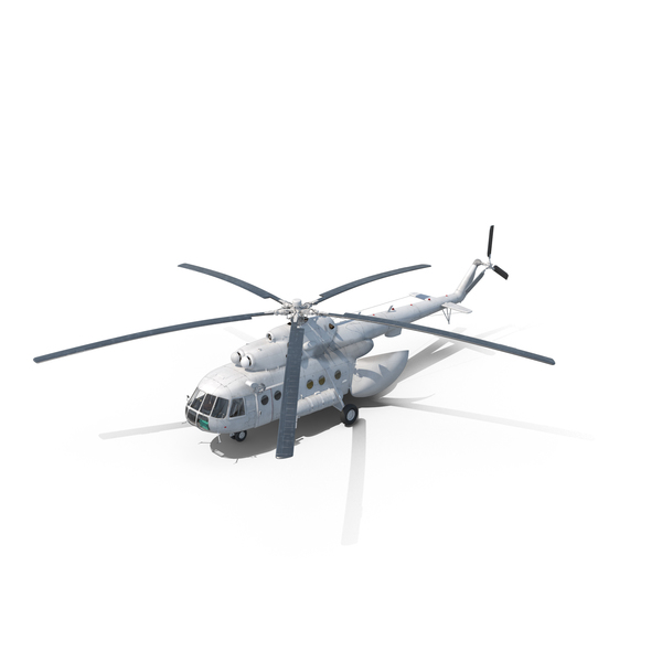 Mi-8 Hip United Nations Medium Transport Helicopter PNG & PSD Images