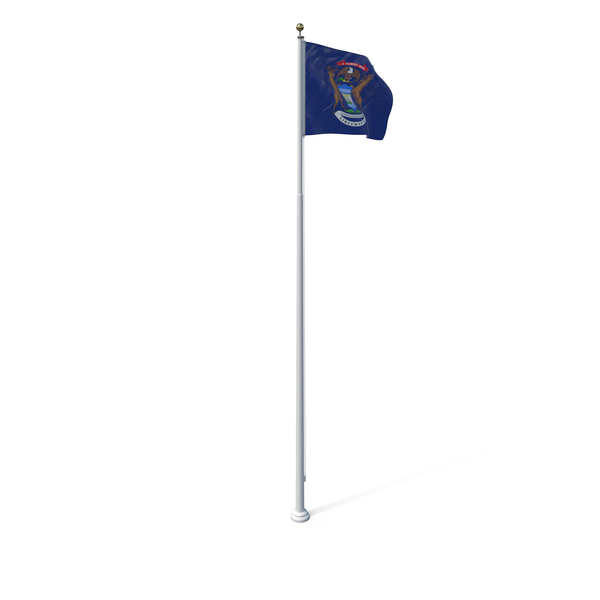 Michigan State Flag PNG & PSD Images