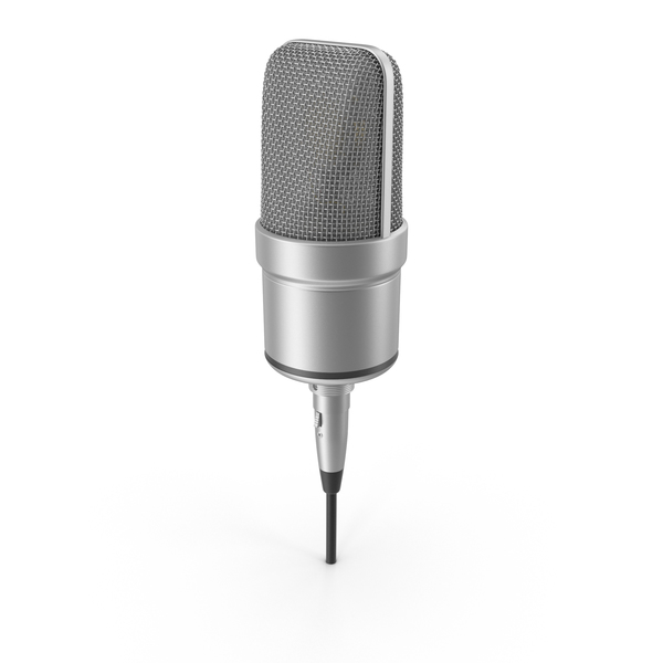 Microphone With XLR Cable Object