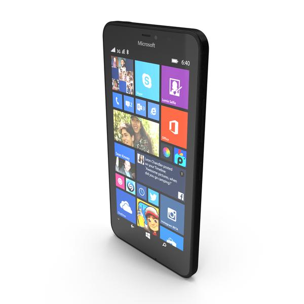 Microsoft Lumia 640 XL Black PNG & PSD Images