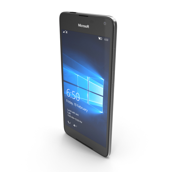Microsoft Lumia 650 Black PNG & PSD Images