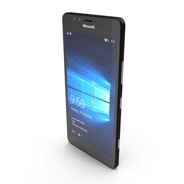 Microsoft Lumia 950 Black PNG & PSD Images