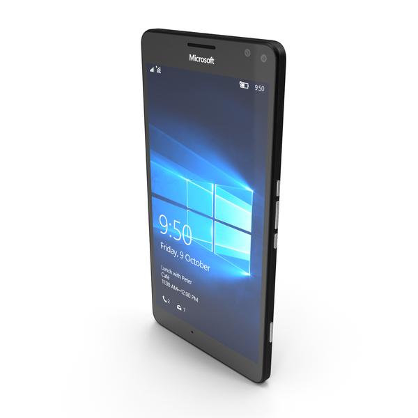 Microsoft Lumia 950 XL Black PNG & PSD Images