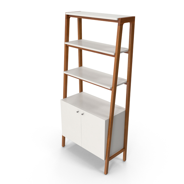 Mid-Century Modern Bookcase PNG & PSD Images
